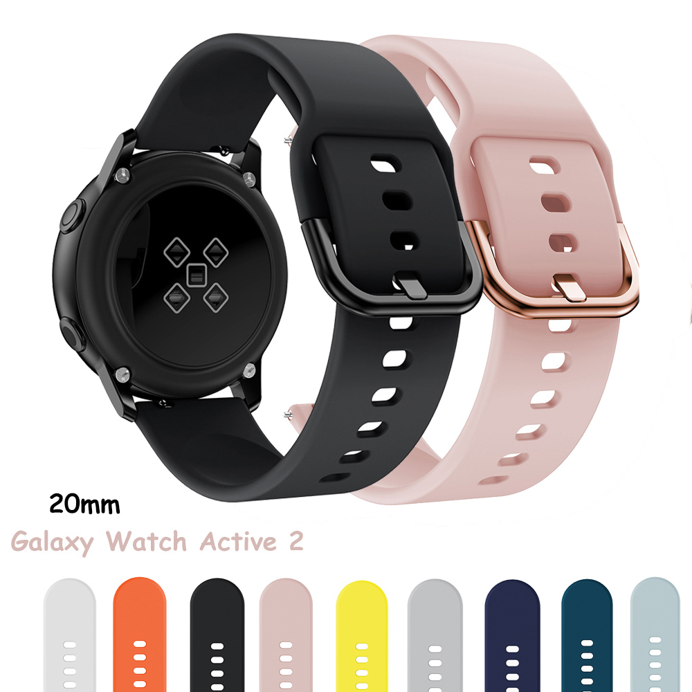 Galaxy Watch Active 2/Active band FOR Samsung galaxy watch 44/42/40mm Huawei Watch 2 pro Gear sport bracelet 20mm watch strap
