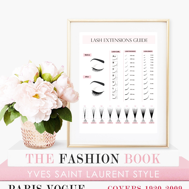 H4bbab5a9982041b4b737f15fe9b6853eJ Lash Extensions Technician Guide Posters and Prints Makeup Wall Art Picture Decor Eyelash Business Form Art Canvas Painting