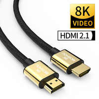 HDMI 2.1 kable 8K 60Hz 4K 120Hz 48 gb/s przepustowości łuku MOSHOU wideo przewód do wzmacniacza telewizor z dostępem do kanałów multimedialny interfejs o wysokiej rozdzielczości