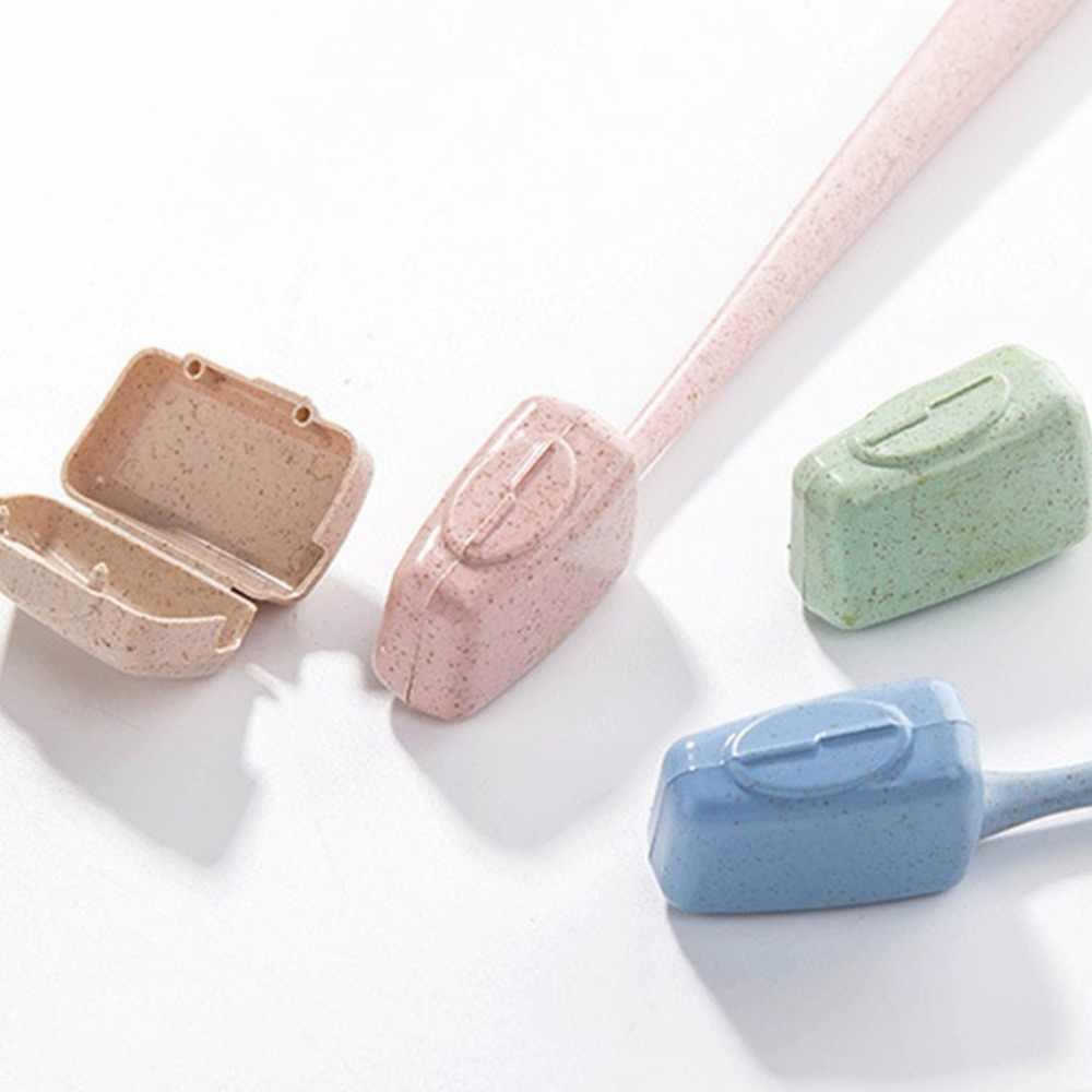 4 sztuk/zestaw głowica szczoteczki do zębów pokrywa słomy pszenicy osłona ochronna zapobiega bakteriom do podróży na zewnątrz powołanie Anti-pyłu czyszczenia domu główka szczoteczki