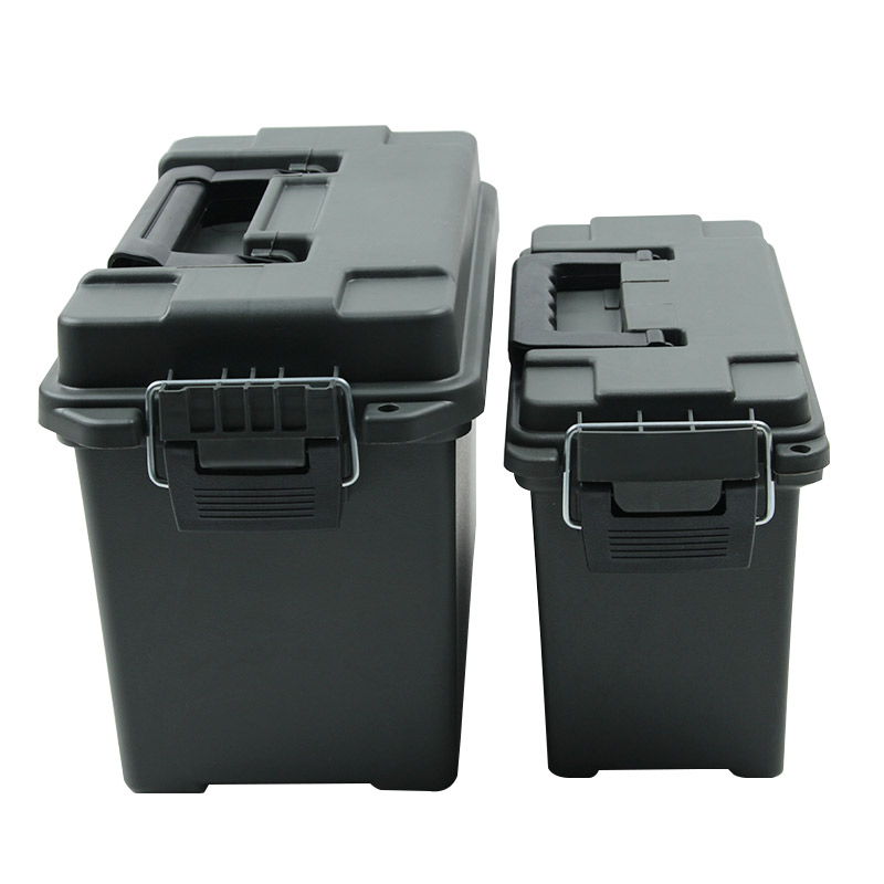 Plastic Ammo Box Military Style Storage Ammo Can Lightweight High Strength Ammo Accessory Crate Storage Case Tactical Bullet Box