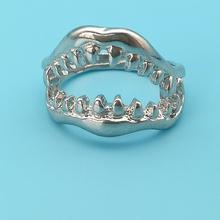 Men Ring Jewelry Dress Emo Punk Tooth Shark Goth Demon Women Gift Hell Chic Fancy Mouth