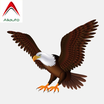 Aliauto Car Sticker Wings Eagle Flying Accessories Decoration PVC Decal for Toyota Hilux Bmw E46 Passat B6 Kia ,15cm*12cm image