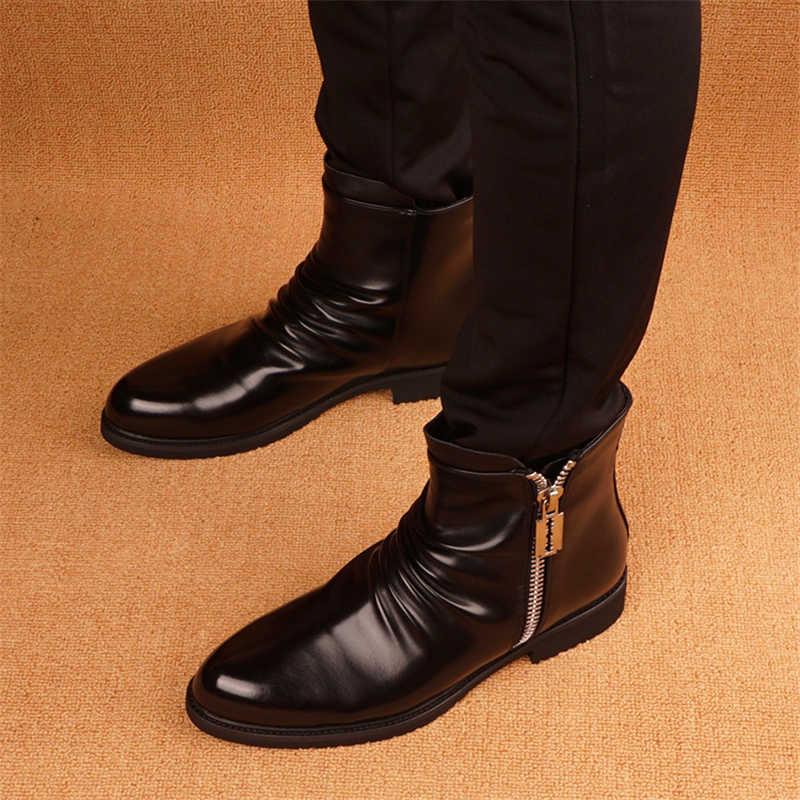 Lente Herfst Nieuwe Mannen Laarzen Martin Laarzen Mannelijke Schoenen Volwassen Dr Motocycle Laarzen Warm Enkellaarsjes Winter Schoenen Mannen schoenen
