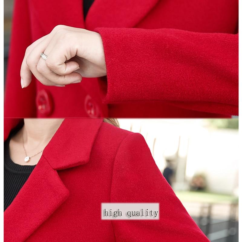 YICIYA Winter autumn Coat Women Wool Jacket Long Oversized Coats Plus Size Large Black Blend Woolen Warm Outerwear 2019 Clothing 4