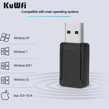 KuWFi Mini 1300Mbps USB Wifi Adapter 5.8G/2.4GHz Wireless Wifi Network Card Dual Band Wireless AC USB Adapter for PC Desktop