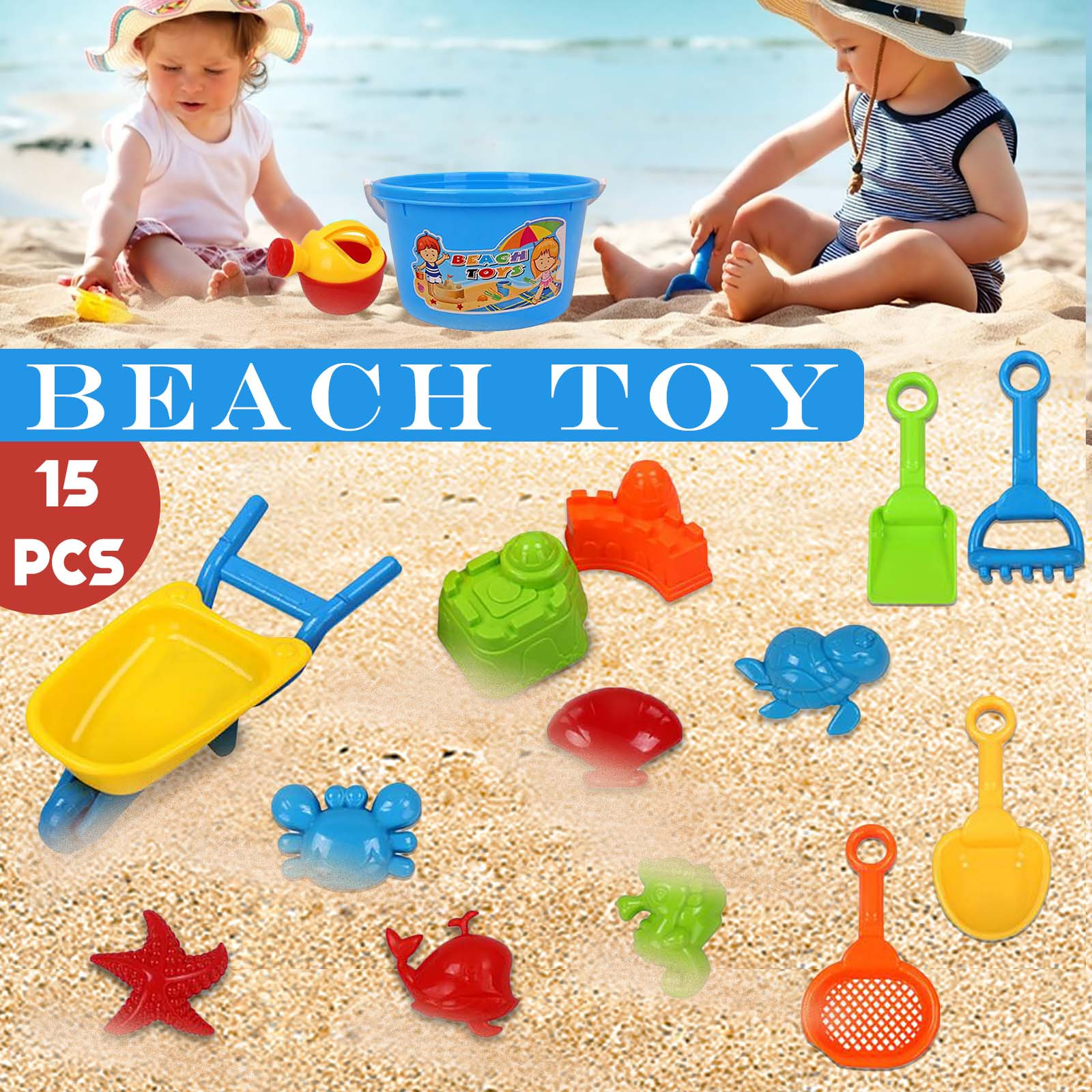 Summer Children Beach Table Toy Play Water Digging Sandglass Play Sand Tool Suit