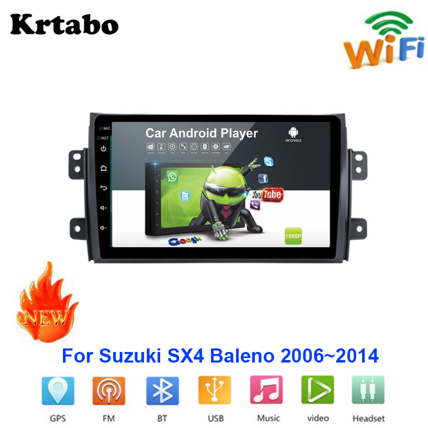 Car radio Android <font><b>multimedia</b></font> player For <font><b>Suzuki</b></font> <font><b>SX4</b></font> Baleno 2006~2014 Car touch screen <font><b>GPS</b></font> Navigation Support Carplay Bluetooth image