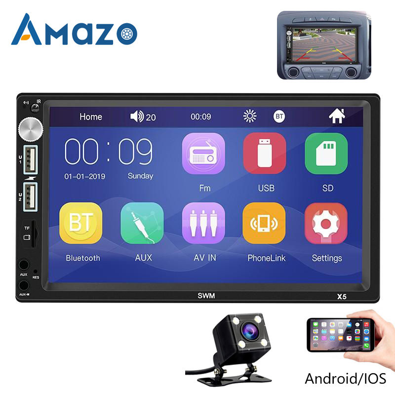 X5 Car Radio 2 Din Bluetooth Autoradio 7