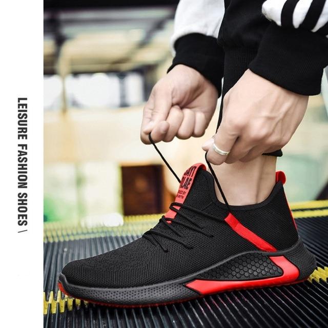 Offre spéciale hommes chaussures décontractées marque baskets hommes léger Air extérieur maille hommes mode Sneaker vulcanisé chaussures Zapatillas Hombre