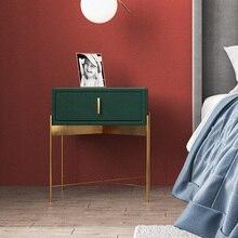 Прикроватная тумбочка из высококачественной нержавеющей стали, позолоченная фланелевая прикроватная тумбочка для спальни, мебель для спальни