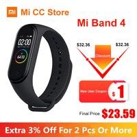 Auf Lager Xiaomi Mi Band 4 AMOLED Bildschirm Herz Rate Fitness Tracker Bluetooth 5 0 Wasserdichte Miband 3 farbe Smart Sport armband-in Intelligente Armbänder aus Verbraucherelektronik bei