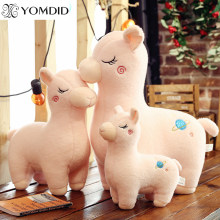 YOMDID Alpaca Pink White Toys Kawaii Stuffed Toys 25/30/45cm Cartoon Alpaca Doll Toys For Christmas New Year Children Kids Gift(China)