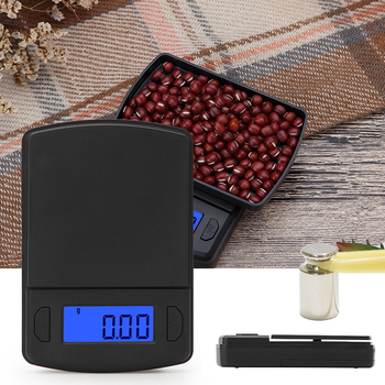 1pcs High Accuracy Scale Mini Plastic Pocket Scale For Weigh Gold Jewelry Food Scales Weight Gram Ba