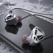 PINZHENG אוזניות Wired אוזניות לxiaomi Samsung Smartphone אוזניות אוזניות HIFI אוזניות מיקרו אוזניות באוזן ספורט