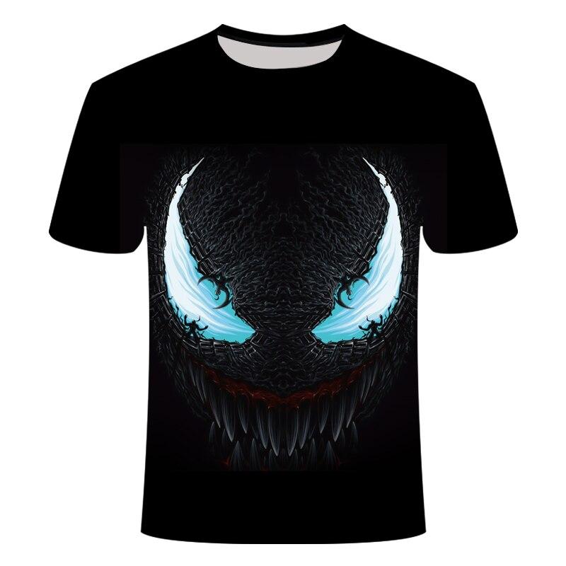 2019 NOVO Venom 3D Impresso T-shirt Dos Homens Casuais Camisa de Manga Curta Encabeça Camada de Base de levantamento de Peso da Aptidão T Camisa Masculina tamanho asiático