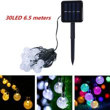 6.5M 30LED Solar Powered Bubble String Lights Garden Home Party Night Light Colorful IP43 Waterproof Decoration Bulb Light