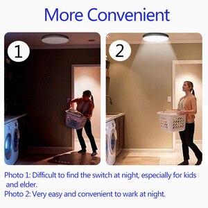 Image 4 - Smart LED Motion Sensor Night Light 5w 7W 9W 12W 18W 220V PIR Sensor Bulbs Lamp Ceiling Lights for Home Stair Corridor White
