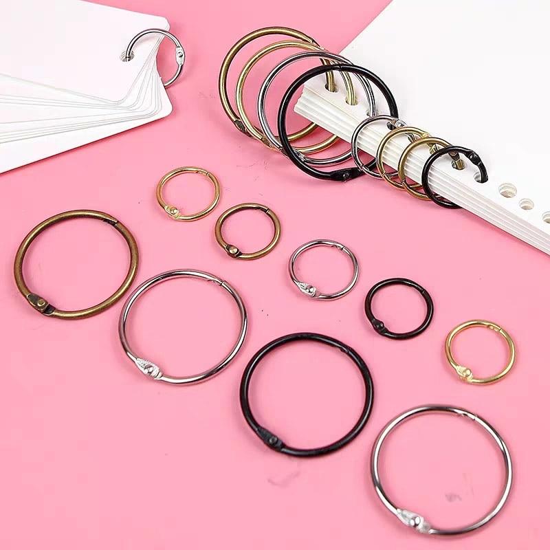 High Quality 10pcs/Lot Metal Ring Binder 15 - 30mm DIY Loose-leaf Opening Scrapbook Binders Office Binding Photo Album Keychain
