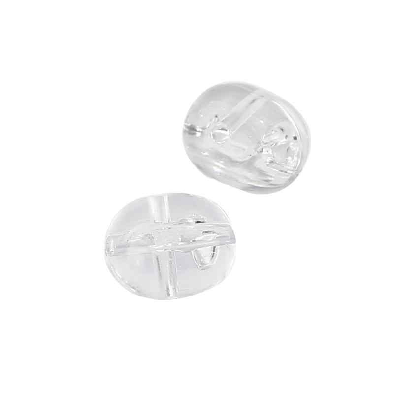 100 PCS שקוף T סוג דיג קרפיון פרל צלב פלסטיק פירסינג להפוך את טבעת חרוזים צלב חרוז אבזר