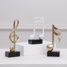 Nordic Black - and - White Notes Music Lesson Piano Resin Crafts TV Bookcase Home Decoration Crafts Home Decoration Accessories