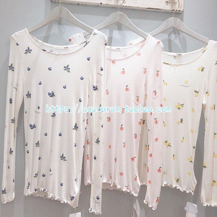2020 GP Spring And Summer Kniiting Jersey Sleepwear Underwear Fruit Printing Gelato Pique Pyjamas Pajamas