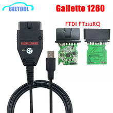 Galletto 1260 Ftdi FT232RQ Eobd Ecu Programmeur Lezen Schrijf Auto Ecu Flasher Werkt Voor Meerdere Auto Obdii Diagnostische Multi Taal
