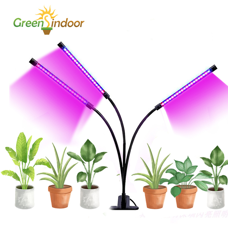 LED Led Grow Light Strips USB Full Spectrum Phyto Lamp 27W Indoor Lamp For Plants Red Blue Led Timer Lamps For Flower Succulents