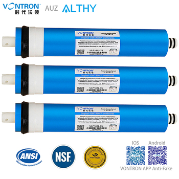 VONTRON Reverse Osmosis RO Membrane 75GPD / 100GPD Replacement Water Filter System Purifier Drinking  ULP1812-75 / ULP2012-100 100 gpd ro membrane 2 pcs reverse osmosis water filter replacement under sink and system