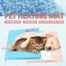 Водонепроницаемое противозахватное электрическое одеяло для питомцев, уплотненное, регулируемая температура, электрический нагреватель для питомцев, коврик для зимнего тепла