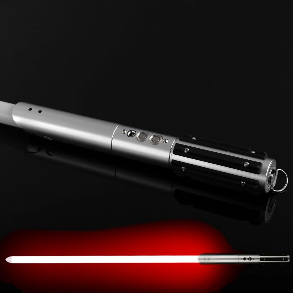 Sword Lightsaber Metal Hilt Stick Luke Star Jedi Cosplay LED Light Saber with Voice Vader Discoloration Luminous Lightstick Gift