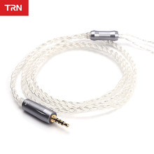TRN Eerphone Cable 2.5MM Silver plated upgrade cable headset 0.75 0.78 MMCX PIN for ZST V30 ZS4 ZSR ZS5 ZS4 AS10 ZS6 V80 V10 IM1