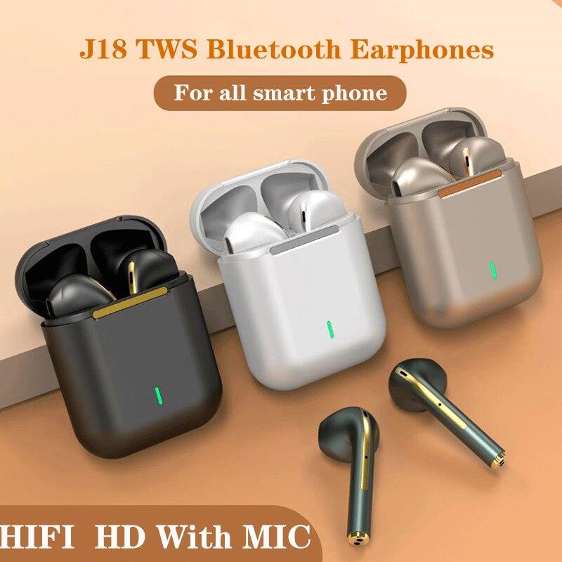 Оригинальные наушники J18 Tws , Bluetooth 5,0, Беспроводные стереонаушники, сенсорные всплывающие стереогарнитуры для Android/ios