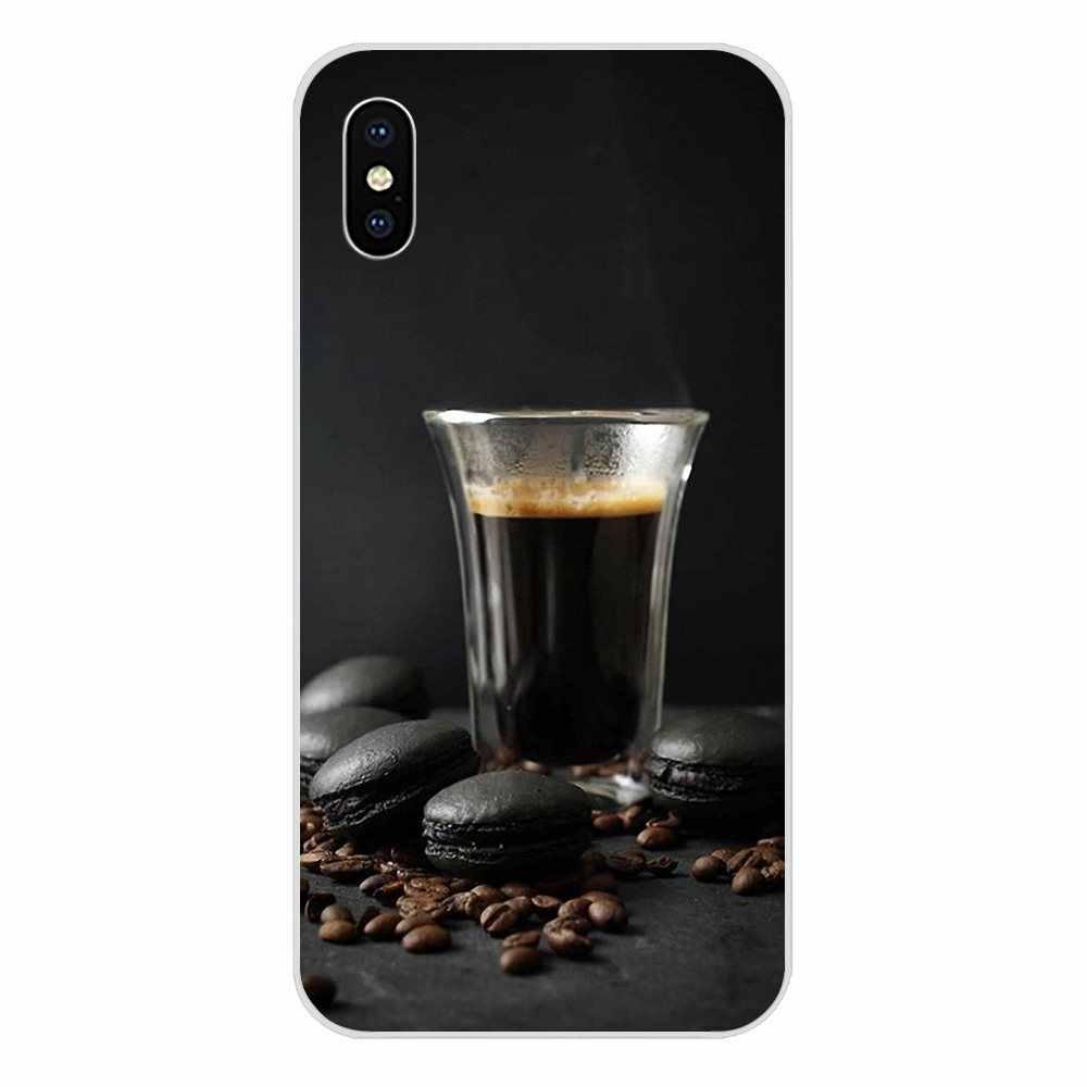 2019 elegante café negro para Galaxy J1 J2 J3 J330 J4 J5 J6 J7 J730 J8 2015, 2016, 2017, 2018 mini suave Capa