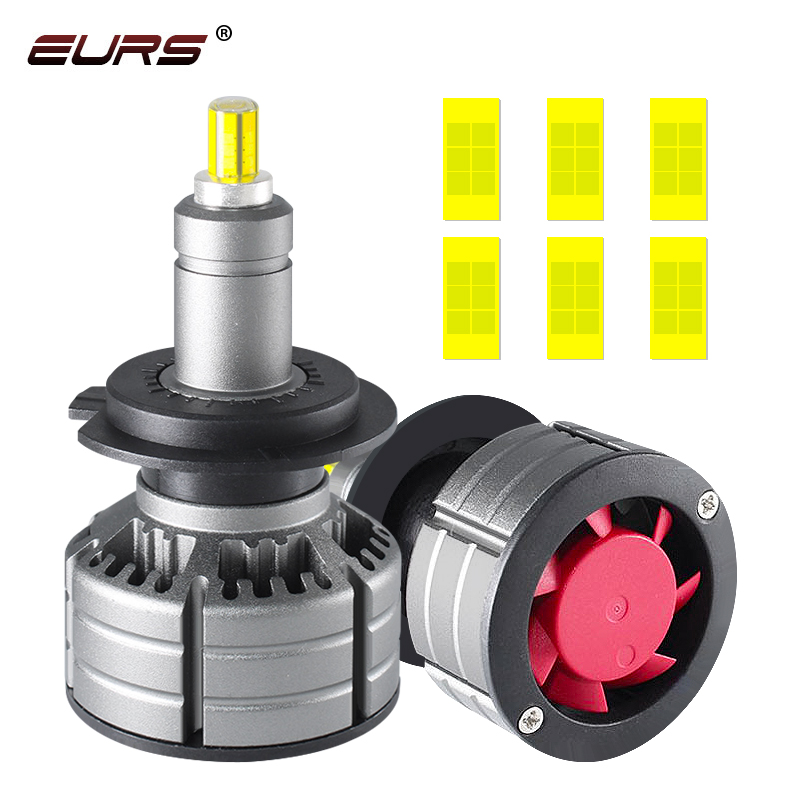 EURS 10000LM <font><b>LED</b></font> H7 Car Headlights Bulbs <font><b>360</b></font> H11 <font><b>LED</b></font> H8 <font><b>H9</b></font> H3 H1 9005 9006 6500K Auto Head Lamp Fog Lights 12V 24V <font><b>LED</b></font> Light M9 image