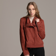 Suede velvet coat lapel locomotive jacket Fashion of New Locomotive Women's Wear in Autumn and Winter