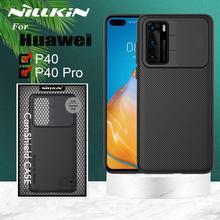 Huawei P40 Pro 케이스 용 Nillkin CamShield 카메라 보호 케이스 Huawei P40 Capa 용 렌즈 보호 커버 케이스 보호