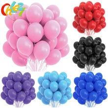 10/20 pçs rosa preto branco látex balões festa de aniversário decoração crianças brinquedo adulto decoração do casamento hélio globos chuveiro do bebê ballon