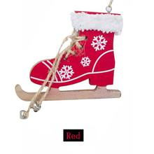 купить Christmas Tree Innovative Skates Ski Shoes Pendant Christmas Painted Decorative Pendant Christmas Home Door And Tree Decorations по цене 71.64 рублей