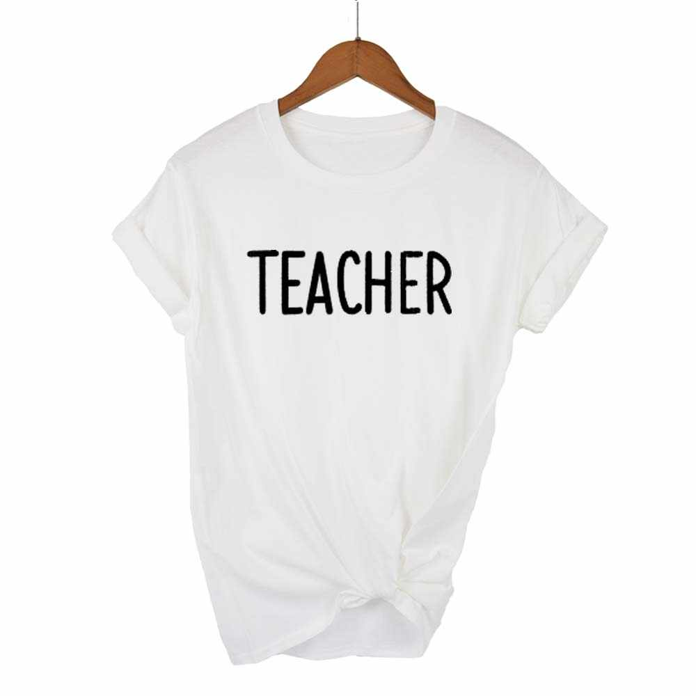 THACHER T قميص ، الإناث الموسيقى ، متعة قصيرة كم T قميص ، روك أعلى ، الموسيقى المعلم الطباعة الأبجدية T قميص