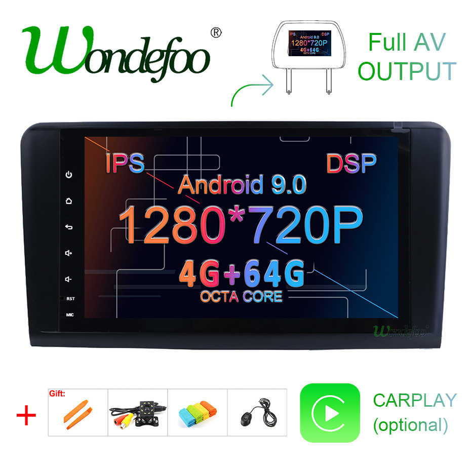 Android 9.0 4G 64G car GPS For Mercedes Benz ML GL W164 ML350 ML500 GL320 X164 ML280 GL350 GL450 radio stereo navigation NO DVD