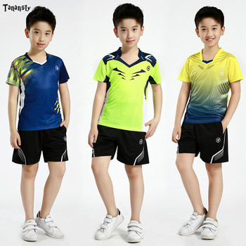 Новинка, футболка для бадминтона спортивная форма для мальчиков, Детские теннисные костюмы mujer для настольного тенниса теннисная рубашка с ...