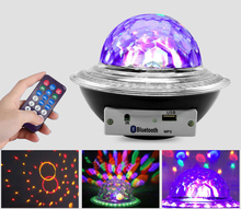 Disco Light Mini Led Crystal Magic Ball Stage Lighting Effect UFO Bluetooth Speaker Home Atmosphere Light Professional Stage Bar