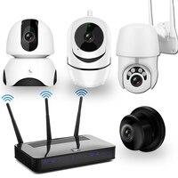 Комплект видеонаблюдения комплект ip-камер WiFi камера 1080P двухстороннее аудио ночное видение беспроводная CCTV камера система безопасности ко...