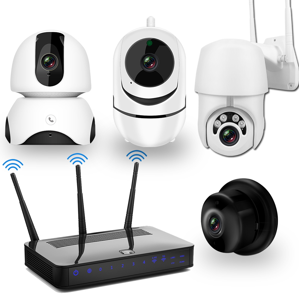 CCTV Video Surveillance Kit IP Camera Set  WiFi Camera 1080P Two Way Audio Night Vision Wireless CCTV Camera Security System Kit