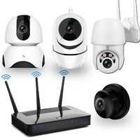 Kit de Surveillance vidéo CCTV, Kit de caméras IP, caméra WiFi 1080 P, Vision nocturne Audio à deux voies, Kit de système de sécurité pour caméras de vidéosurveillance sans fil