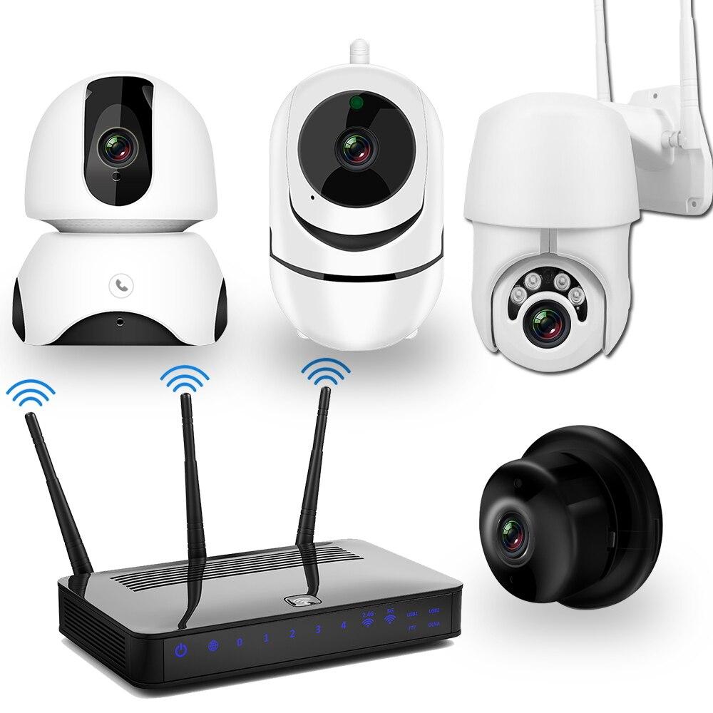 Kit de vidéosurveillance caméra IP ensemble caméra WiFi 1080P deux voies Audio Vision nocturne sans fil caméra de vidéosurveillance système de sécurité Kit