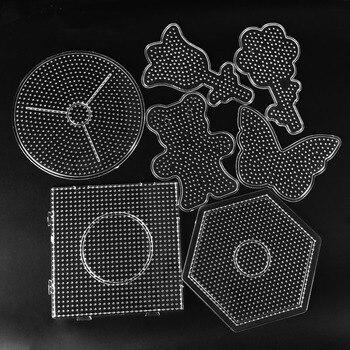 5mm Hama Beads Template Toy DIY Perler Tool PUPUKOU Beads Educational Tangram Jigsaw Puzzle Iron Beads Tool