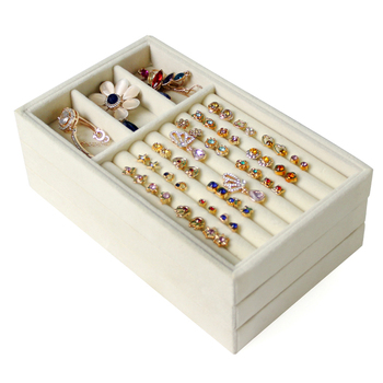 Drawer Type Velvet Earring Display Box Small Jewelry Box Storage Tray Earring Box Bracelet Necklace Display Tray Ring Organizer pillow style jewelry watch bracelet display tray box necklace earring container boxes case jewelry organizer gift