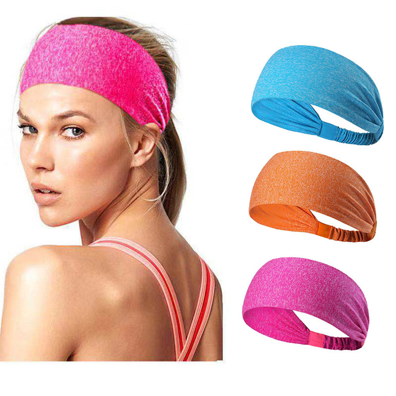 3pcs Lightweight Sport Headband Non-slip Sweat Band  for Women Men Teens Girls sports Sweatband &4s18